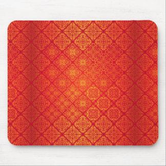 Mousepad Teste padrão antigo real luxuoso floral