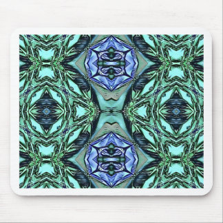 Mousepad Teste padrão artístico do Lilac Funky da cerceta