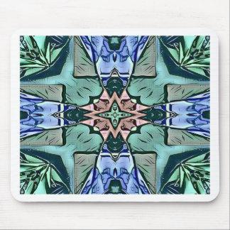 Mousepad Teste padrão artístico do pêssego moderno do Lilac