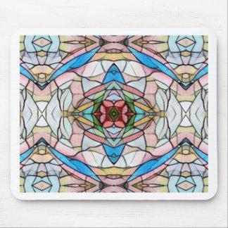 Mousepad Teste padrão artístico raro bonito do vitral