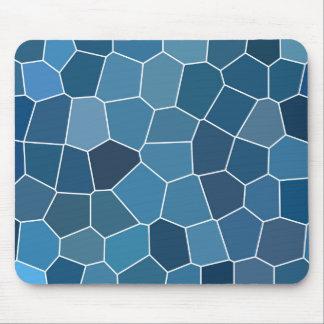 Mousepad Teste padrão azul à moda moderno