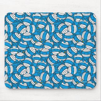 Mousepad Teste padrão azul da confusão do Sr. Colisão |