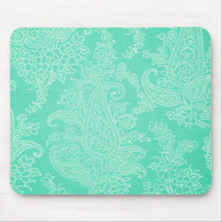Mousepad Teste padrão azul de pano da flor da árvore de pai