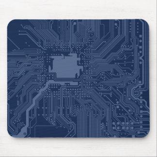 Mousepad Teste padrão azul do circuito do cartão-matriz do