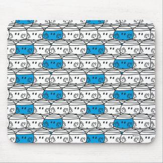 Mousepad Teste padrão azul do Sr. Colisão |