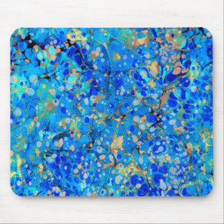Mousepad Teste padrão bonito azul do mar elegante com laço