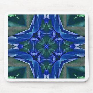Mousepad Teste padrão bonito da forma da cruz dos azuis