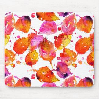 Mousepad Teste padrão bonito das folhas de outono da