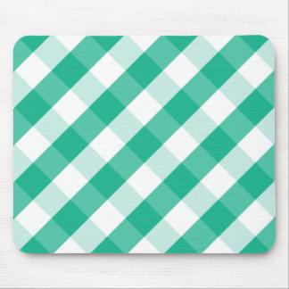 Mousepad Teste padrão branco verde simples do guingão de St