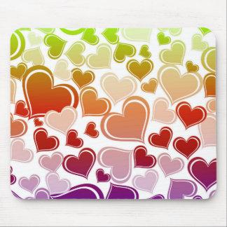 Mousepad Teste padrão brilhante Funky dos corações