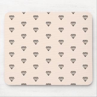 Mousepad Teste padrão chique bonito do rosa do diamante