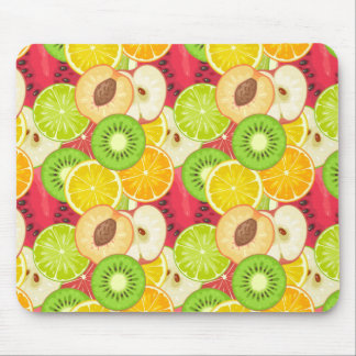 Mousepad Teste padrão colorido da fruta do divertimento