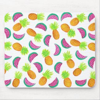 Mousepad teste padrão colorido da melancia do abacaxi da