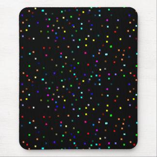 Mousepad Teste padrão colorido dos quadrados no fundo preto