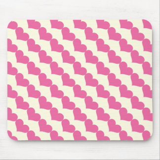 Mousepad Teste padrão cor-de-rosa dos corações dos