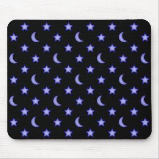 Mousepad Teste padrão das luas e de estrelas
