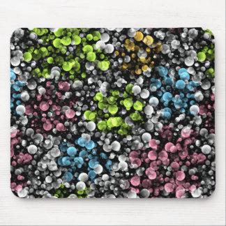 Mousepad Teste padrão de bolinhas retro colorido Funky