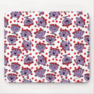 Mousepad Teste padrão de bolinhas vermelho pequeno da