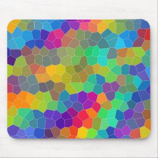 Mousepad Teste padrão de mosaico brilhante e colorido do