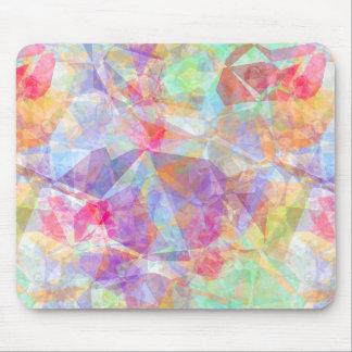 Mousepad Teste padrão de mosaico legal retro Funky colorido