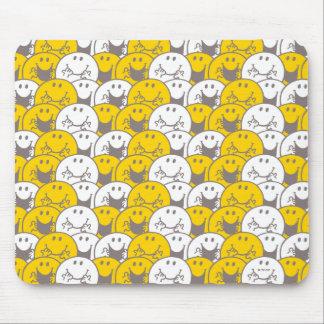 Mousepad Teste padrão de piscamento dos sorrisos do Sr.