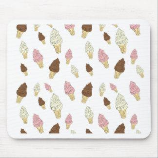Mousepad Teste padrão do cone do sorvete