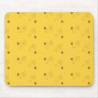 Mousepad Teste padrão do favo de mel da abelha