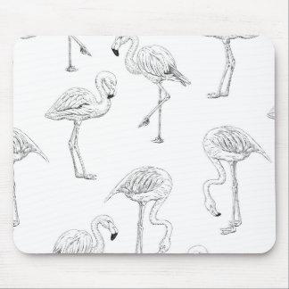 Mousepad Teste padrão do flamingo