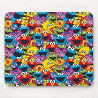 Mousepad Teste padrão do grupo do Sesame Street