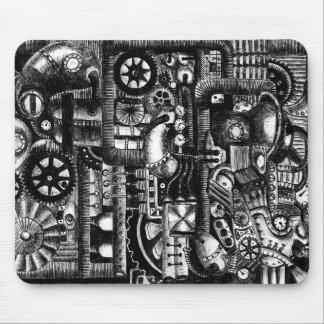 Mousepad teste padrão do mecanismo dos desenhos animados da