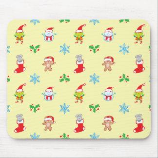 Mousepad Teste padrão do Natal do rato, do boneco de neve,
