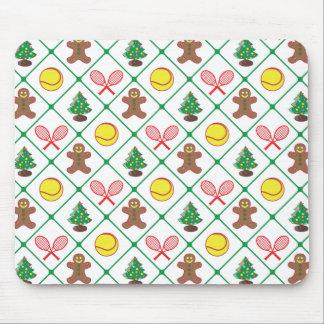 Mousepad Teste padrão do Natal do tênis