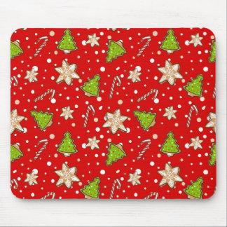 Mousepad Teste padrão do Natal dos biscoitos do gengibre