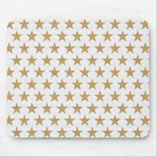 Mousepad Teste padrão do ouro da estrela com textura do