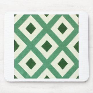 Mousepad Teste padrão do triângulo de Forest Green