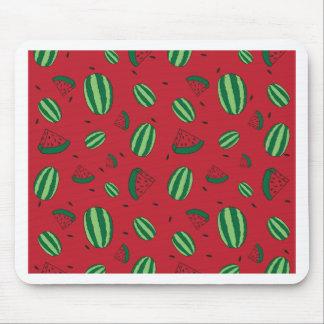 Mousepad Teste padrão do vermelho da melancia