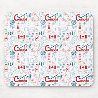 Mousepad Teste padrão dos símbolos de Canadá |