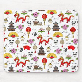 Mousepad Teste padrão dos símbolos de China