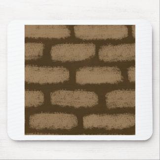 Mousepad Teste padrão dos tijolos de Brown