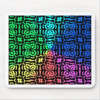 Mousepad Teste padrão e formas coloridos rústicos