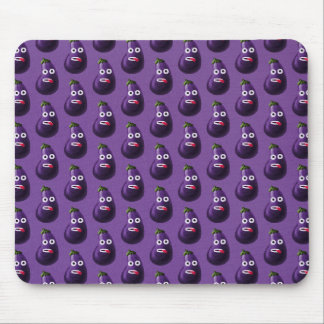 Mousepad Teste padrão engraçado roxo da beringela dos