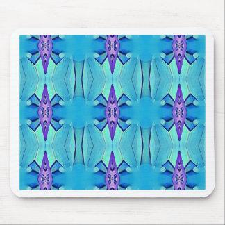 Mousepad Teste padrão feminino do Lilac azul Azure bonito