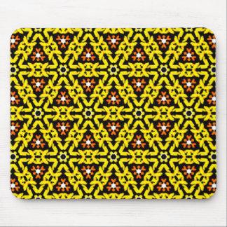 Mousepad Teste padrão filigrana amarelo e alaranjado