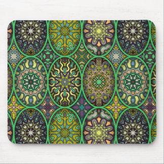 Mousepad Teste padrão floral étnico abstrato colorido da