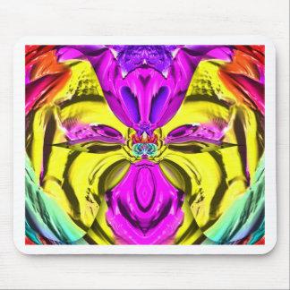 Mousepad Teste padrão florescente legal do abstrato do