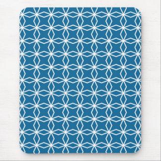 Mousepad Teste padrão geométrico azul da modificação