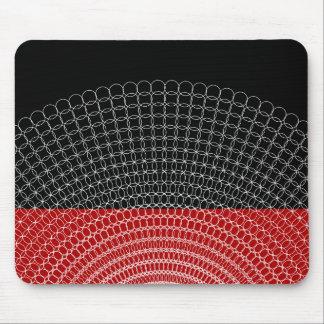 Mousepad Teste padrão geométrico do planeta vermelho