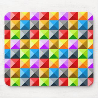 Mousepad Teste padrão geométrico dos triângulos coloridos