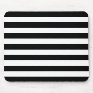 Mousepad Teste padrão horizontal elegante branco e preto