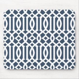 Mousepad Teste padrão imperial da treliça dos azuis